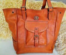 Pratesi Talamone Burnished Gold Leather Women's Expandable Tote Bag NWT Italy