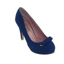 DbDk Women's Afton-8 Round-toe Low Platform Mid Heel Dress Pumps