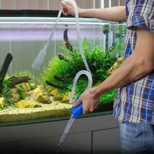 Aquarium Fish Tank Vacuum  Water Exchange Filter Cleaner Siphon Suction Pipe