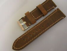 MARINA - 22MM VINTAGE  BROWN leather band