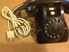 Vintage PTT Black table top telephone , made in Holland. rotary