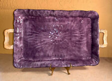 Gisella Tabletops Rectangular Serving Tray / Platter, Rare! Lavender Purple Euc