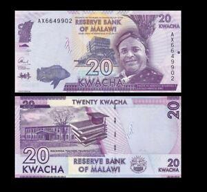 MALAWI 20 KWACHA 2017 YEAR P 63 UNC