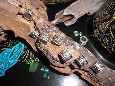 Dreadlock Beads 8x Double Spiral Silver Tone Celtic Dreadlock Bands 5mm hole UK
