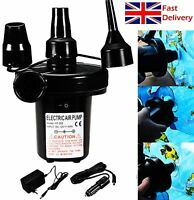 Electric Air Pump Inflator For Inflatable Pool Airbed Mattress 240V 12V Car home