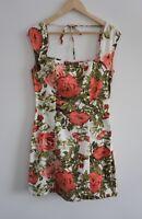 Princess Highway Size 10 Floral Rose Print Dress Knee Length Dangerfield