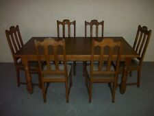 Solid strong Oak Dining Table Set with 6 chairs solid and strong Pos Deliver