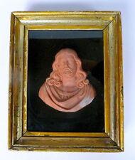 Sakrale Wachsfigur im Rahmen Votivbild um 1830 Italien