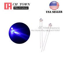 100pcs 1.8mm Transparent Water Clear Purple/UV Light LED Diodes Ultra Violet USA