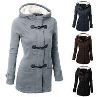 2017 Warm Women Fur Hooded Trench Parka JACKET Coat Overcoat Sweatshirt Outwear