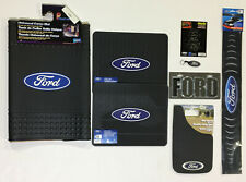 Ford 9 Pc Gift Set Floor Mats Mud Guard License Plate Decals and more!