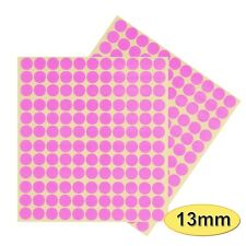 264 x 13mm Coloured DOT STICKERS Round Sticky Adhesive Spot Circles Paper Labels