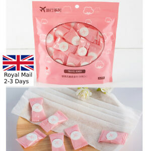 50× Disposable Magic Compressed Bath Face Travel Cotton Towel Washing