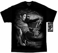 DGA David Gonzales Art Fresh Cut Cruisin Greaser Rockabilly Tattoo Mens Shirt