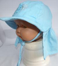 KU 42 43 44 46 binden Nacken Schutz Sommer Sonnen Hut Mütze Baby Mädchen blau