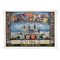 Vintage travel poster - A4 - York Minster LS