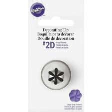 Wilton #2D Large Drop Flower Decorating Tip Icing Nozzle GENUINE WILTON