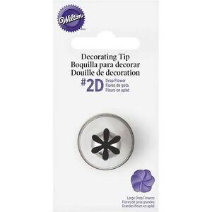 Wilton #2D Large Drop Flower Decorating Tip Nozzle GENUINE WILTON Not Decora