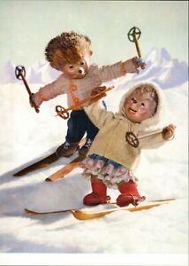 Ansichtskarte  Mecki (Diehl-Film): Skifahren Spass im Schnee 1970