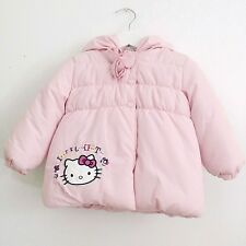 NWT HELLO KITTY Pink White Winter Coat Puffer Jacket w/ Hood Size 2T Sanrio C2