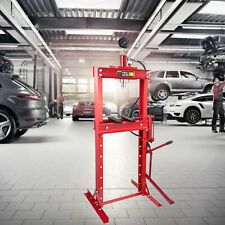 Presse d'Atelier Hydraulique 20 T avec Pompe à Pédale et Manomètre Garage Auto