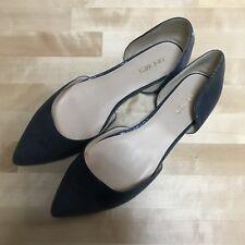 Nine West Womens Starship Grey Blue Pointed Toe Flats Shoes, AU Size 10 M