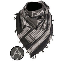 Rifles Shemagh Military Army Tactical Neck Arab Scarf Scrim Headscarf Black