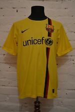 VINTAGE BARCELONA AWAY FOOTBALL SHIRT 2008/2009 SOCCER JERSEY CAMISETA MENS M