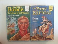 Lot of 2 1950s Landmark Books Daniel Boone & The Pony Express