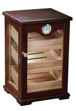 Large Wood Glass Humidor Box Cabinet - Cigar Cohiba Humidifier Antique Look 100