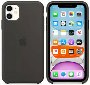 Genuine Official Apple iPhone 11 Silicone Case - Black Original MWVU2ZM/A