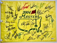 Masters golf flag signed 30 champs arnold palmer jack nicklaus spieth mickelson