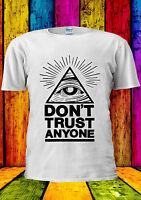 Illuminati Eyes Don't Trust Anyone T-shirt Vest Tank Top Men Women Unisex 1747