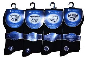 Mens and Womens Gentle Grip Non Elastic Honeycomb Soft Comfortable Cotton Socks