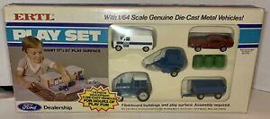 ERTL Ford Dealership Die-Cast 1:64 Scale PLAY SET Van Mustang Wagon Tractor NIB