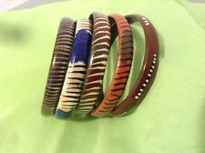 African-Arena Handmade Wooden Animal Prints Set of 5  Bangles Bracelets AA16