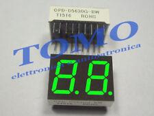 Display 7 Segmenti doppio anodo comune Verde, 14,2mm code OPD-D5630G-BW