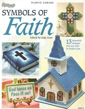 Symbols of Faith Plastic Canvas Patterns Cross Chapel Needlecraft Shop Bookmarks