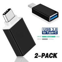 2 Pack USB C to USB 3.0 Adapter USB 3.1 Type C Male to USB A Female Cable OTG