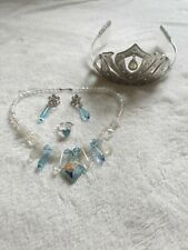 Disney store Frozen Elsa Metal Tiara & Jewellery Perfect Condition