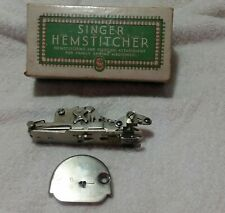SINGER HEMSTITCHER & PICOT EDGER ATTACHMENT No. 121387 with Throat Plate 121398