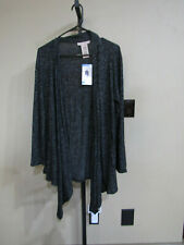 NWT Womens Philosophy Charcoal Gray Heather Asymmetrical Hem Top Sweater Sz S