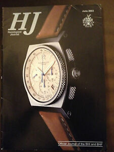 JUNE 2003 HOROLOGICAL JOURNAL MAGAZINE - JAPANESE DAIMYO CLOCK