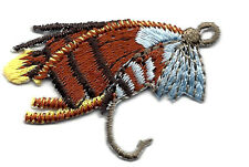 FISHING FLY  -SPORTS - FISHING FLY - FISH - Iron On Embroidered Applique Patch
