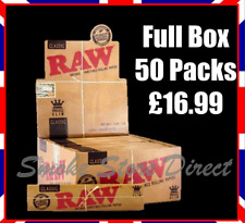 More details for raw king size slim rolling papers 110mm classic full box