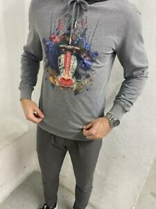 Vincentius Luxury Grey Mandrill Hoodie SIZES XS - L AVAILABLE BNWT