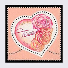 Timbre de 2003 N° 3539 Saint Valentin - Le cœur Torrente avec bouquet de roses