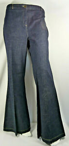 Women Ladies WOW Flare Leg Jeans Navy Size UK 14 BNWT LJMar16-4