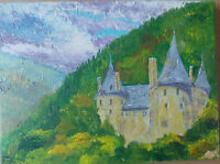 """Castell Coch, by Frank Penny. Acrylic Painting On Stretched Canvas 16"""" x 12"""""""