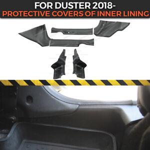 Protective covers carpet inner door sills for Dacia Duster 2018- inner moldings